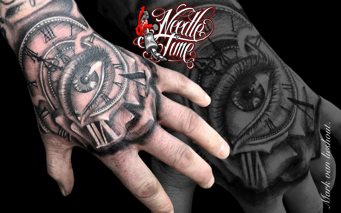 Hand Tattoo Needle Time Tattoo Studio Eersel